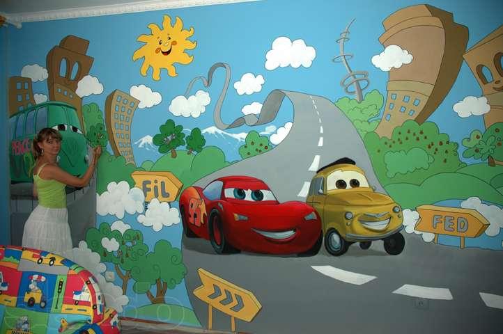 Рисунки на стену в комнату для мальчика своими руками
